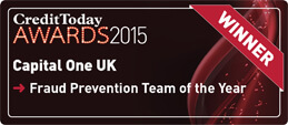 Credit Today Awards 2015 logo. Fraud Prevention Team of the Year