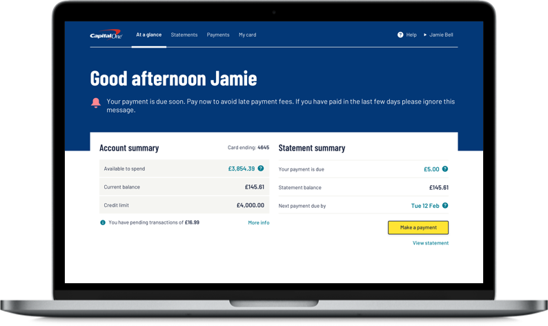 Introducing your new online account experience - Capital One